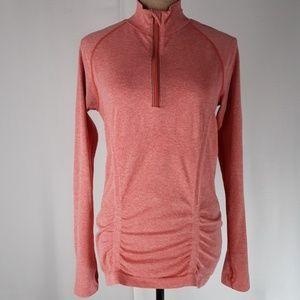 Athleta | Fast Track Coral Half Zip Jacket Top (L)